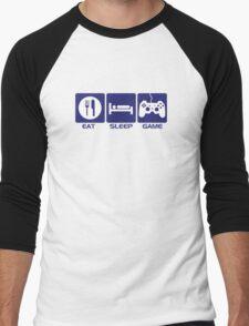 Eat Sleep Game Men's Baseball ¾ T-Shirt