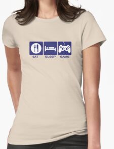 Eat Sleep Game Womens T-Shirt