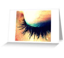 Closed Eye Greeting Card