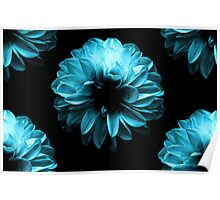 Flowers Blue Poster