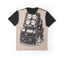 Rocket Cats - Vintage Style Graphic T-Shirt