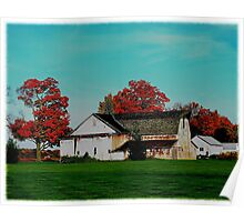 Fall on a farm Poster