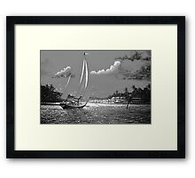 Moonlit Harbor Framed Print