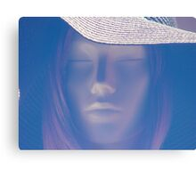 lady with hat Canvas Print