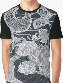 Lotus and Butterfly Graphic T-Shirt