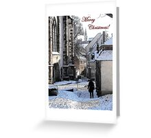 Christmas Card - Snow in Town Greeting Card