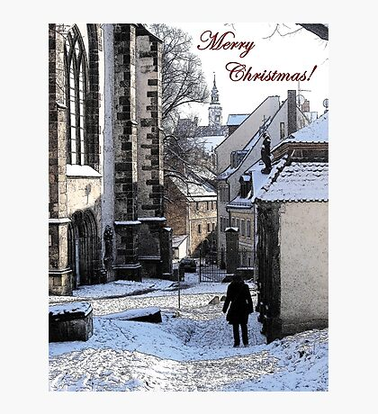 Christmas Card - Snow in Town Photographic Print