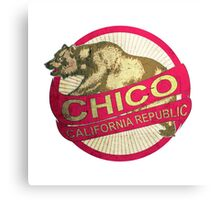 Chico California vintage bear Canvas Print