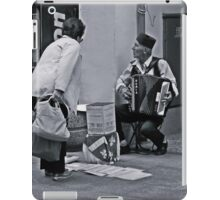 A street musician iPad Case/Skin