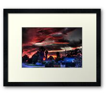 suburbia at sundown Framed Print