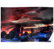 suburbia at sundown Poster