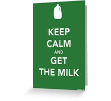 Keep Calm & Get The Milk Greeting Card