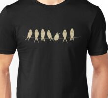 Birds on Wire with Musical Notes Unisex T-Shirt