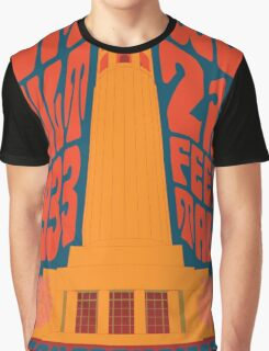 1960's Psychedelic San Francisco Coit Tower Graphic T-Shirt