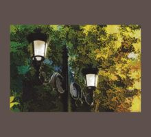 Sweet, Old-Fashioned Streetlights - Impressions of Fall One Piece - Short Sleeve