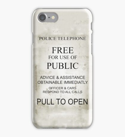 police telephone iPhone Case/Skin