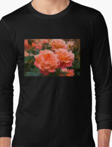 Happy, Fragrant Roses - Impressions of June Long Sleeve T-Shirt