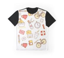 Cartoon traveling elements Graphic T-Shirt