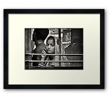 Bus with a view ... Framed Print