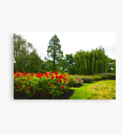 Impressions of London - English Rose Garden Canvas Print