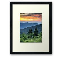 Fire in the Mountains - Blue Ridge Parkway NC Landscape Framed Print