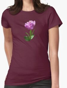 Fancy Pink Tulip Womens Fitted T-Shirt