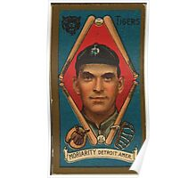 Benjamin K Edwards Collection George Moriarty Detroit Tigers baseball card portrait 001 Poster