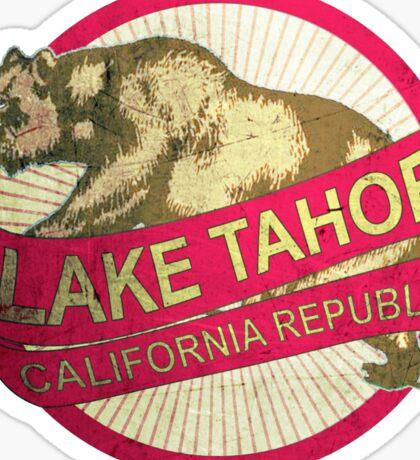 Lake Tahoe California vintage bear Sticker