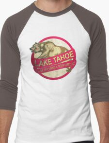 Lake Tahoe California vintage bear Men's Baseball ¾ T-Shirt