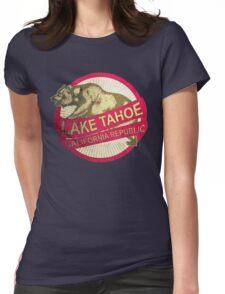 Lake Tahoe California vintage bear Womens Fitted T-Shirt