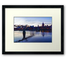 Impressions of London in Purple Framed Print
