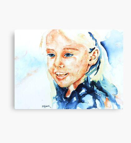 Portrait of lydia Canvas Print