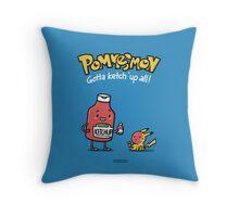 Pommesmon - Gotta ketchup all Throw Pillow