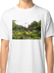 English Cottage Gardens - Summer Green in Watercolor Classic T-Shirt