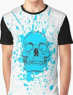 Skull: Cool Blue Graphic T-Shirt