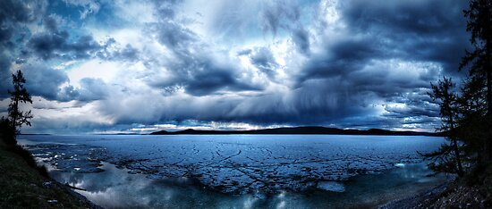 Lake Khovsgol Under The Clouds by tomsbiketrip