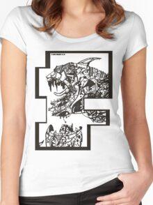 Neo London Mega Shark - T-Shirt Women's Fitted Scoop T-Shirt
