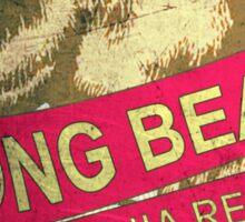 Long Beach California vintage bear Sticker