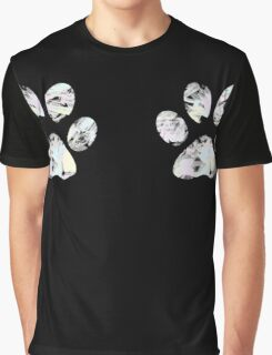 Painted Pastel Paw Prints Graphic T-Shirt