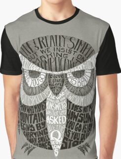 Wise Old Owl Says Graphic T-Shirt