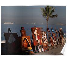 Artwork At The Malecon - Arte En El Malecon Poster