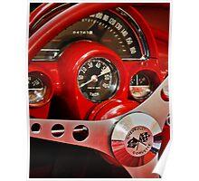 Corvette Dash Poster