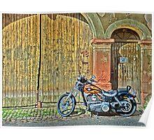 Harley Davidson Wide Glide Poster
