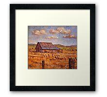 Barn Near Hayden Hill Framed Print