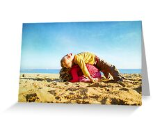 Kids in the beach, Barcelona Greeting Card
