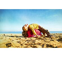 Kids in the beach, Barcelona Photographic Print