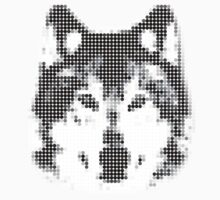 Digital Wolf Mosaic by liquidsouldes