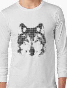 Digital Wolf Mosaic Long Sleeve T-Shirt