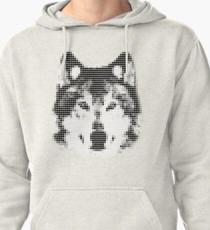 Digital Wolf Mosaic Pullover Hoodie