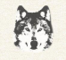Digital Wolf Mosaic Hoodie